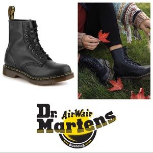 New! Dr Marten 1460 Black Leather Combat Boot